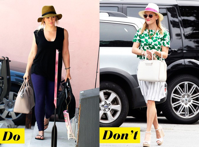 La capeline : Do - Hilary Duf : Don't - Reese Witherspoon