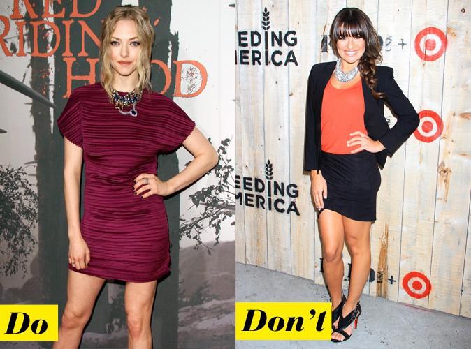 Le collier graphique : Do - Amanda Seyfried / Don't - Lea Michele