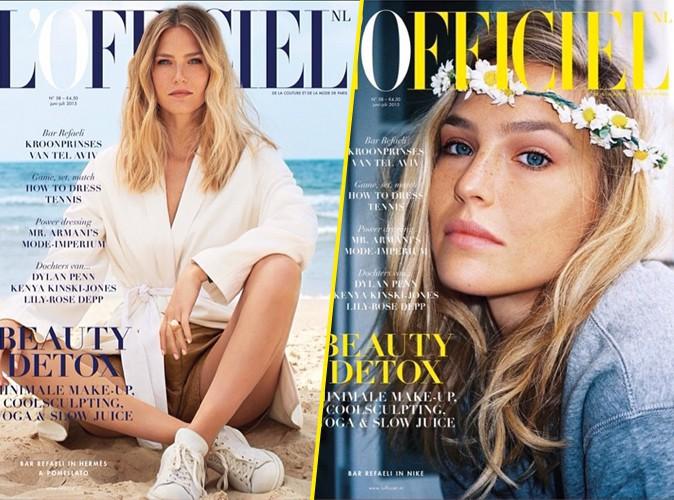 Une double couverture de L'Officiel très printanière pour Bar Refaeli !