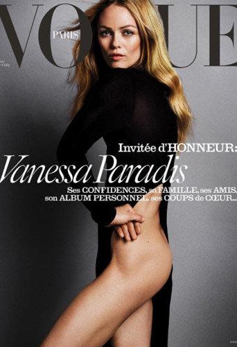Photos : Vanessa Paradis mystérieuse et dénudée pour Vogue Paris !