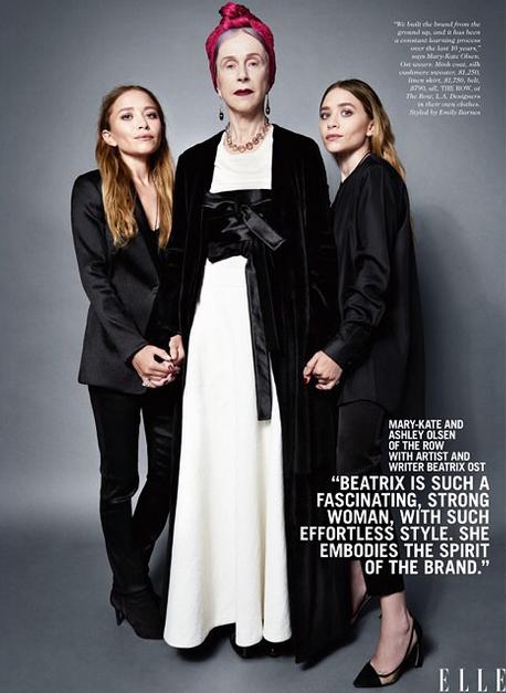 Les soeurs Olsen avec l'actrice et l'écrivaine Beatrix Ost