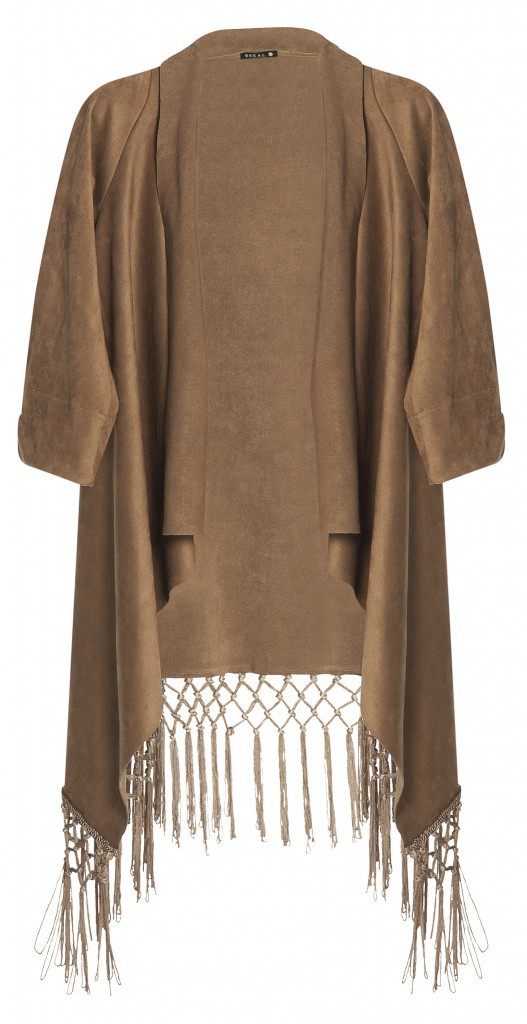 Cow-girl Arizona : Blouse kimono à franges, Bréal 39,99€