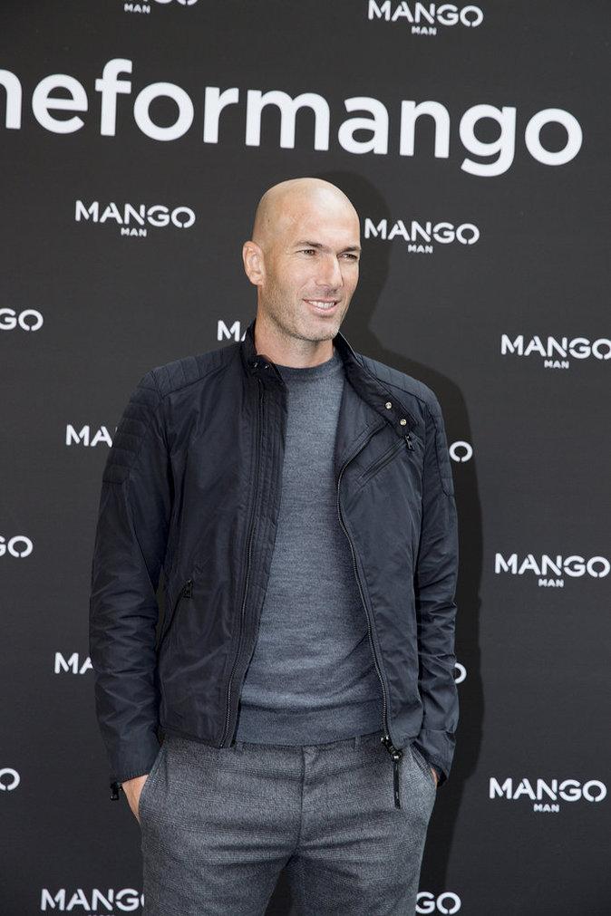 Zinedine Zidane pour Mango Man collection automne-hiver