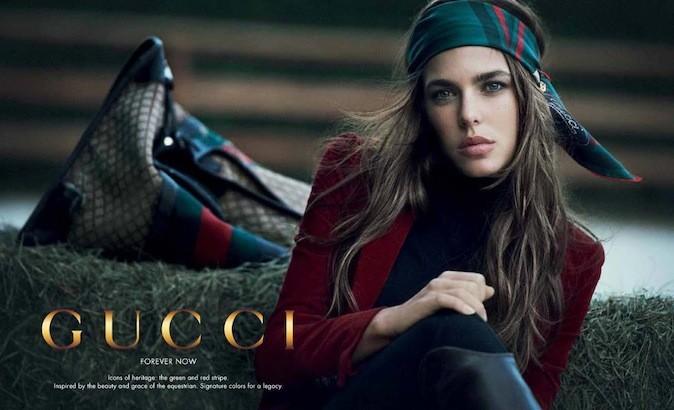 Charlotte Casiraghi pour Gucci