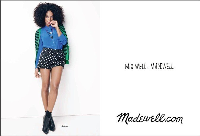 Solange Knowles pour Madewell