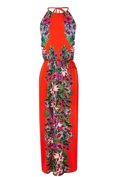 Maxi robe à fleurs, Oasis 69 €