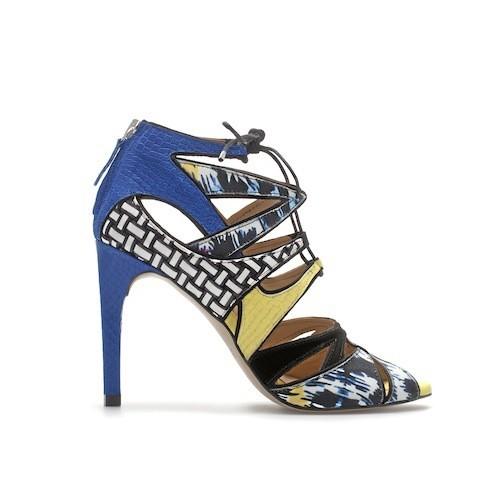 Sandales montantes combinées, Zara 89,95€