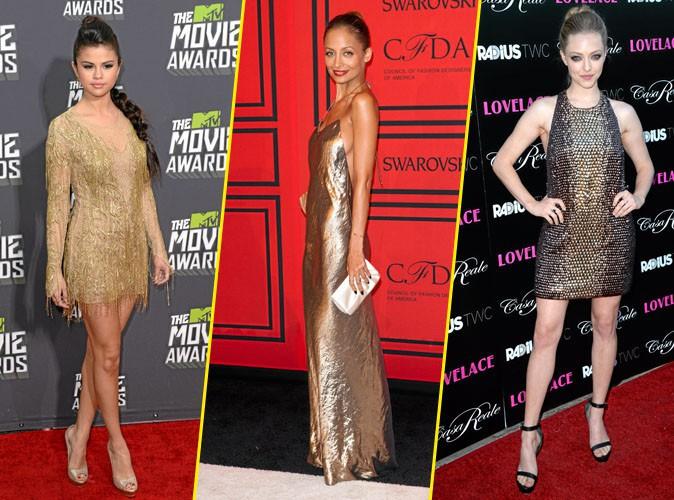 Faites comme Selena Gomez, Nicole Richie et Amanda Seyfried : lancez-vous dans la tendance or !