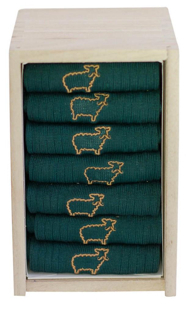 Coffret de 7 paires de chaussettes en fil d'Écosse, M. Moustache 65 €