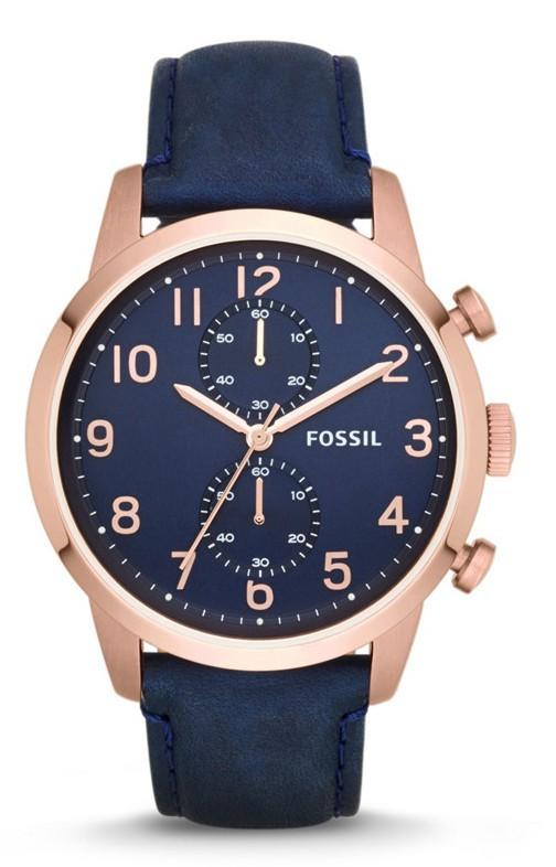 Montre Townsman chronographe en cuir, Fossil 149 €