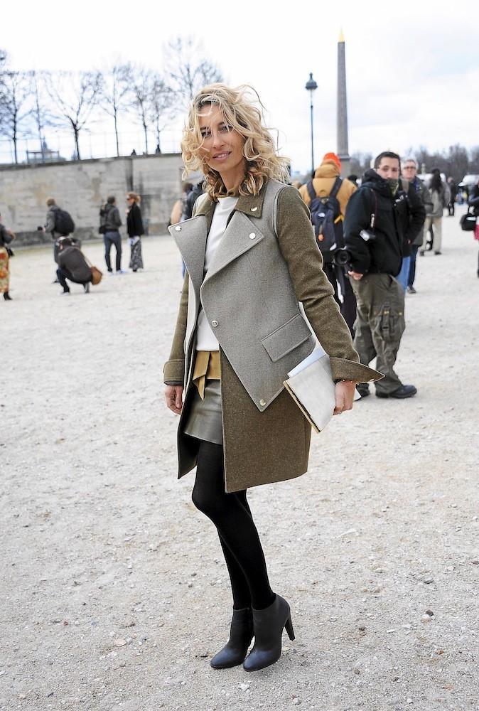 Le manteau officier d'Alexandra Golovanoff !