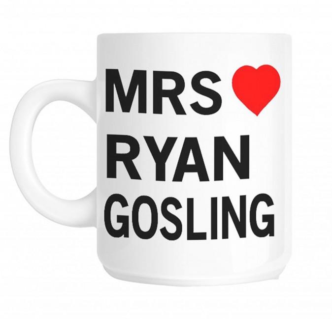 Mug Mrs Ryan Gosling sur wirralmugprinting.co.uk 10 €