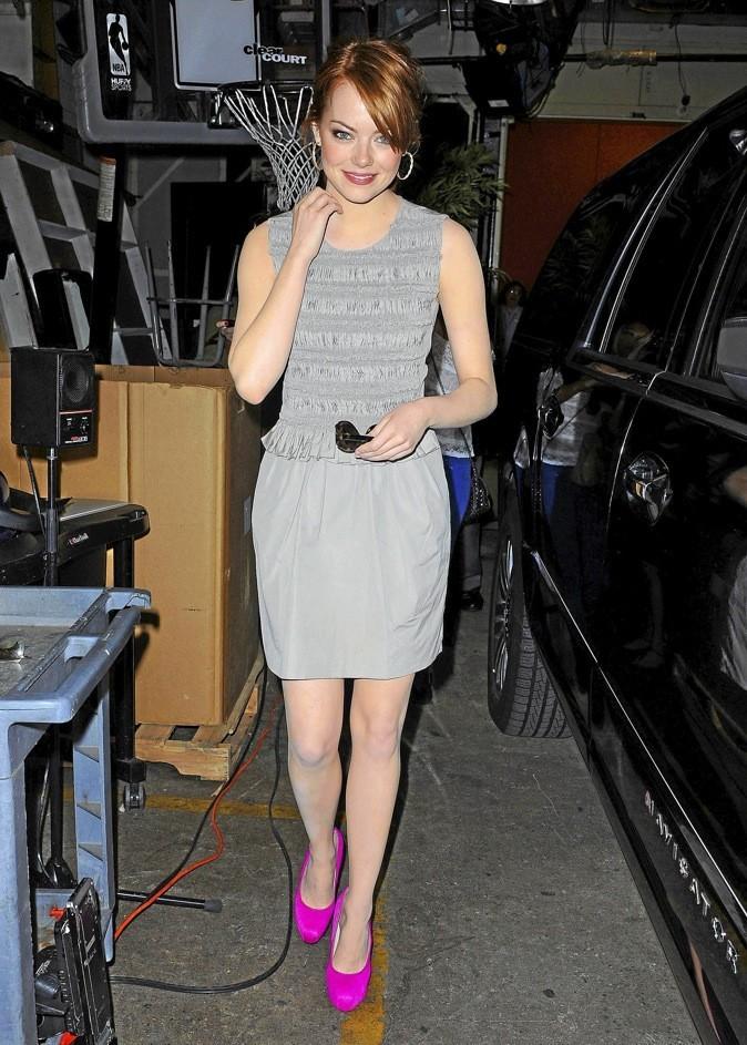 Emma Stone et ses escarpins Brian Atwood