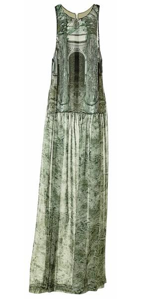 Robe longue en soie imprimée, H&M 69,95 €