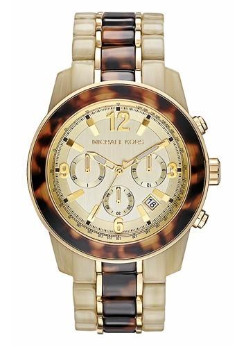 Bracelet en acier et acétate écailles de tortue, Michael Kors, 249 €.