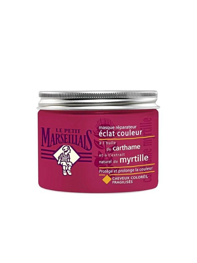 Masque réparateur éclat couleur, Le Petit Marseillais, 300 ml. 5,50 €.