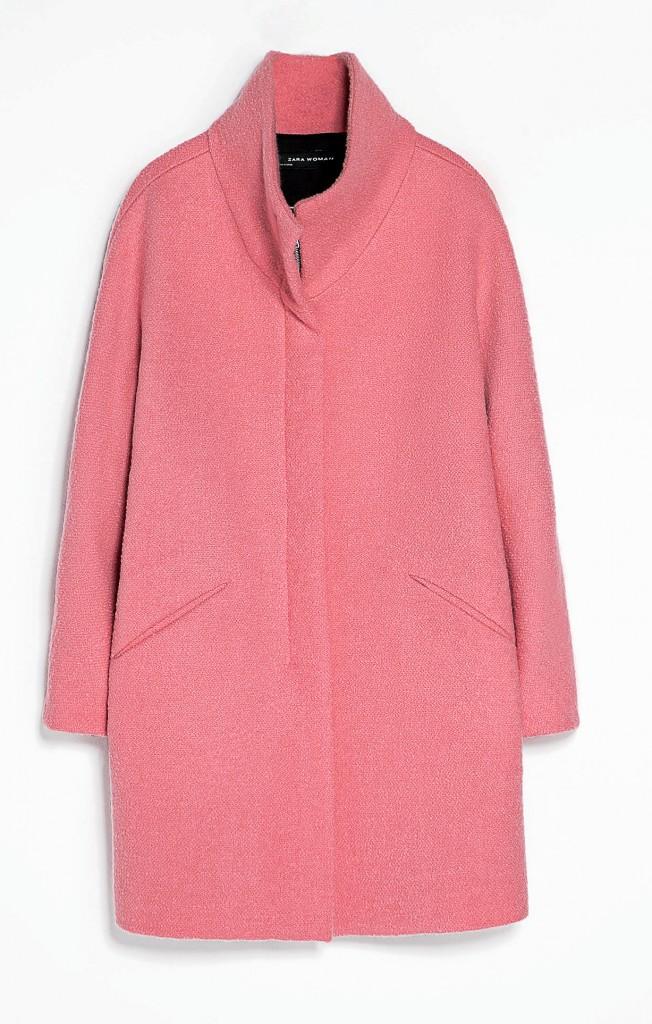 Un hiver à l'eau de rose : Manteau, Zara, 139 €