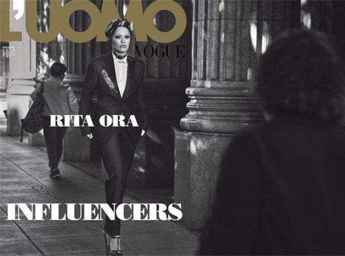 Rita Ora: chic et masculine en couverture du Vogue Homme italien