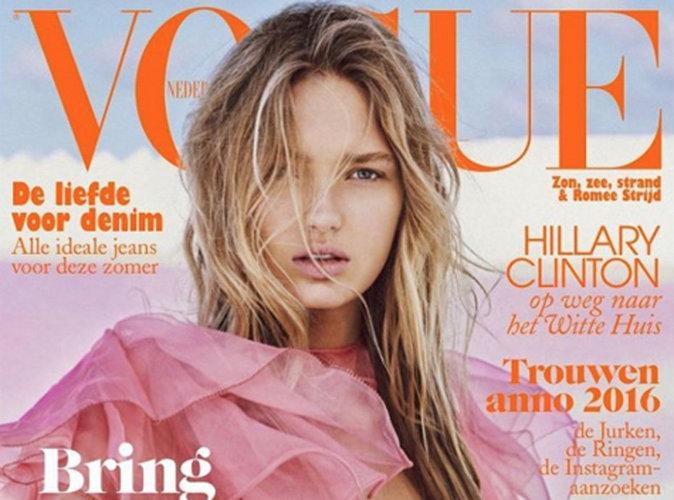 Romee Strijd : naturelle, sauvage et sexy en couverture Vogue Néerlandais