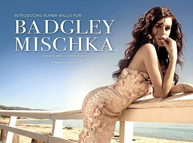 Rumer Willis : la nouvelle égérie so sexy de Badgley Mischka