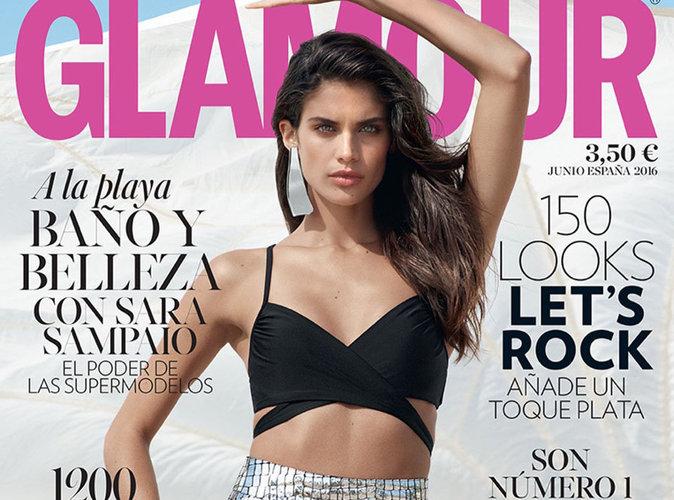 Sara Sampaio : beauté sauvage et sportive en couverture du magazine Glamour Espagne