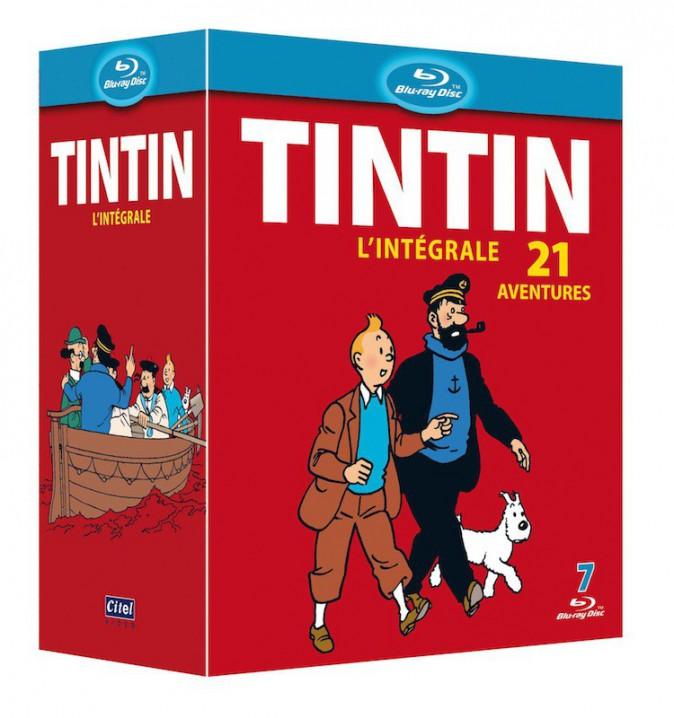 Coffret Tintin l'intégrale, Blu-Ray 60€