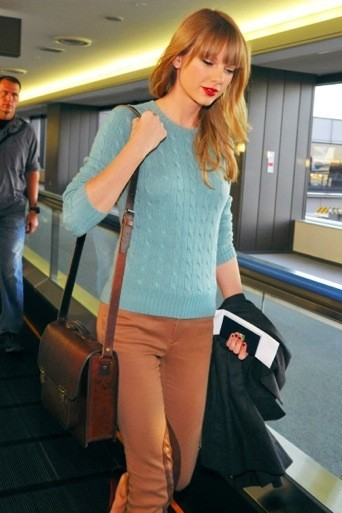 Taylor Swift et son cartable
