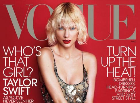 """Taylor Swift en une de Vogue US : """"je me suis fait massacrer pour ma vie amoureuse"""" !"""