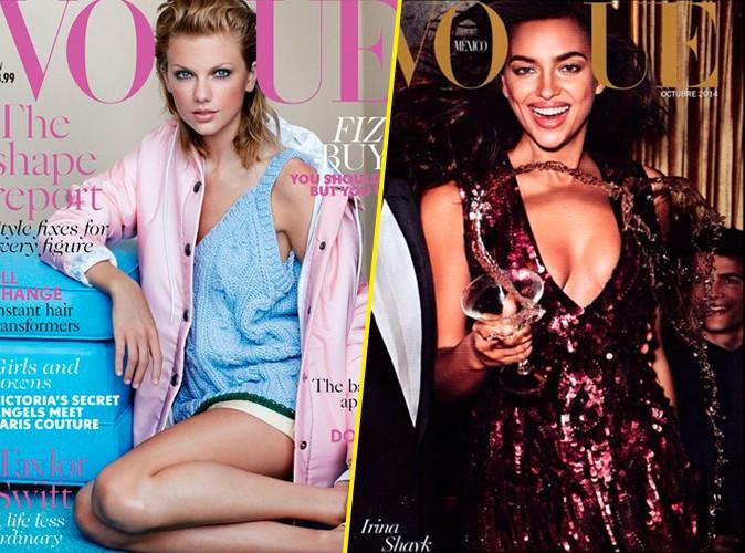 Taylor Swift VS Irina Shayk : quelle est la meilleure cover girl de Vogue ?