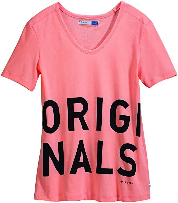 T-shirt rose poudré Originals, Adidas. 35 €