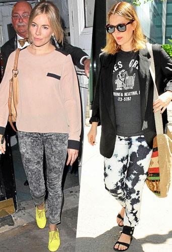 Sienna Miller et Drew Barrymore portent le bleached à leur façon