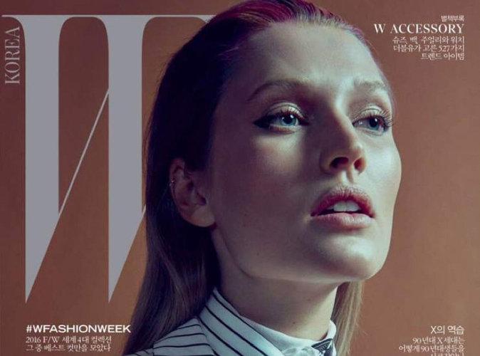Toni Garrn change de bord en couverture du magazine W Corée
