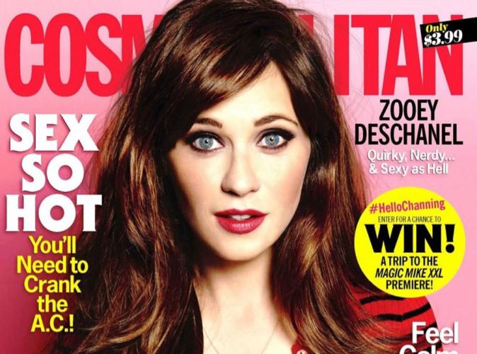 Zooey Deschanel : la future maman fait la cover girl du Cosmopolitan