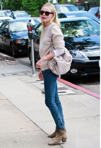 Kate Bosworth portant les boots en nubuck Isabel Marant