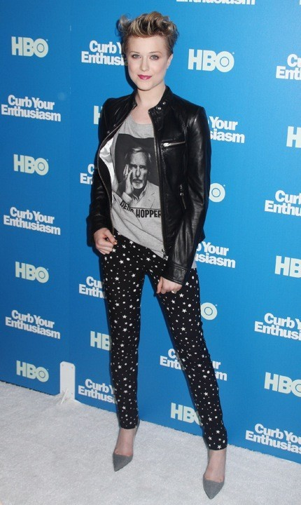 Evan Rachel Wood en pantalon Dolce & Gabbana