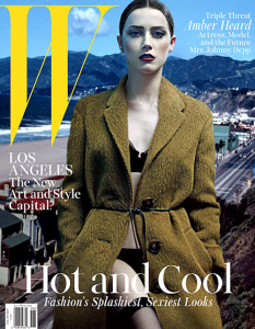 Amber Heard en une de W Magazine