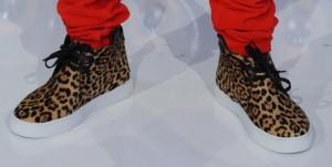 Baskets léopard de Justin Bieber