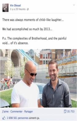 Facebook Vin Diesel