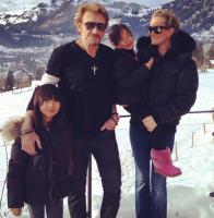 Les Hallyday à Gstaad