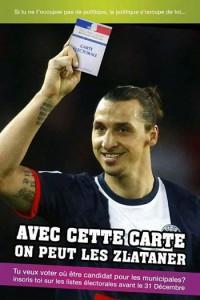 Zlatan Ibrahimovic veut vous voir voter