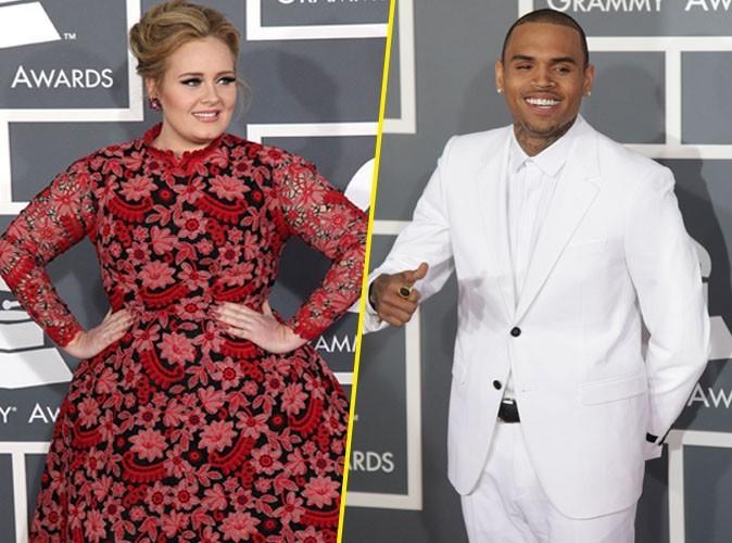 Adèle : elle remet Chris Brown à sa place lors des derniers Grammy Awards !