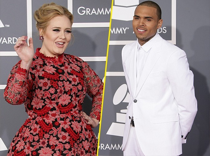 "Adele revient sur la polémique des Grammy Awards : ""Avec Chris Brown, on se complimentait sur la photo !"""