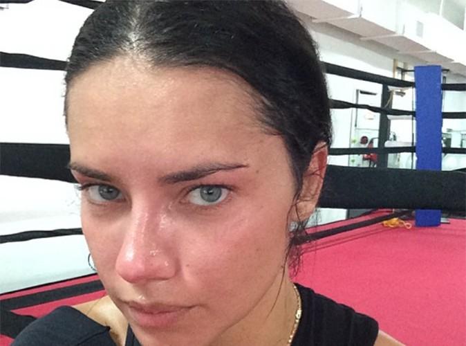 Adriana Lima : le mannequin transpire à grosses gouttes sur le ring !