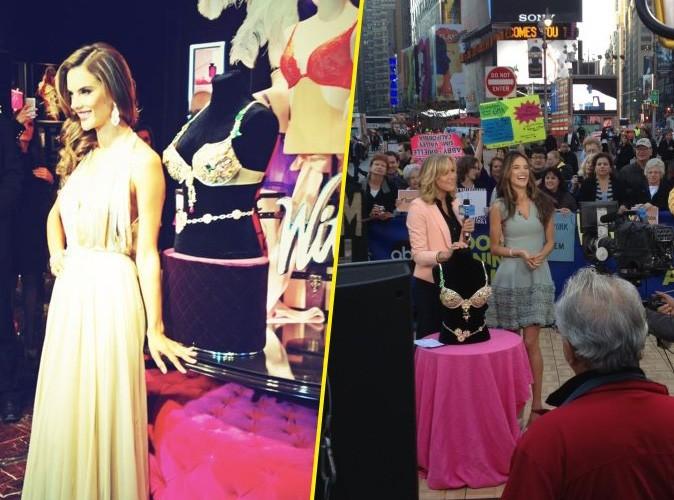 """Alessandra Ambrosio : c'est partie pour la promo du sublime """"Fantasy Bra"""" de Victoria's Secret !"""