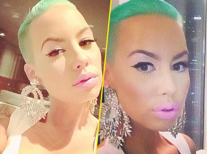 Amber Rose : elle a opté pour les cheveux ... verts ! Carton rouge ?