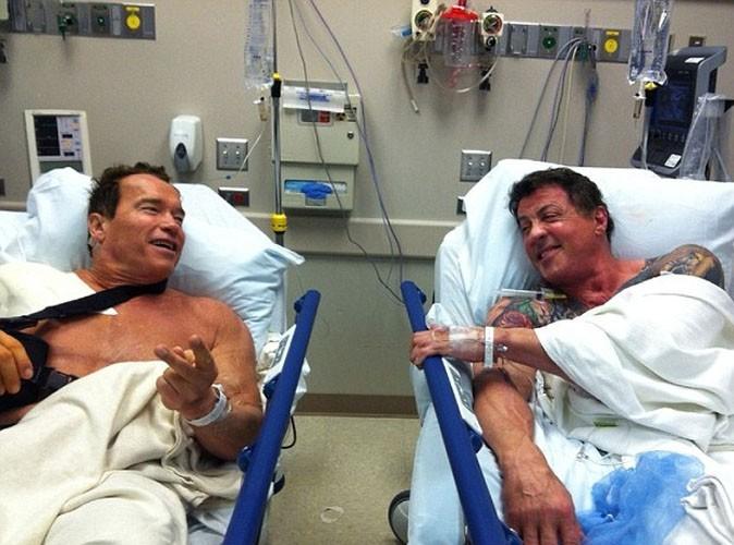 Arnold Schwarzenegger et Sylvester Stallone : les deux gros durs se retrouvent à l'hôpital !