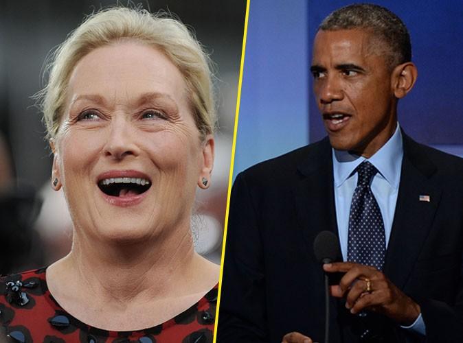 Barack Obama : il crie son amour à Meryl Streep !