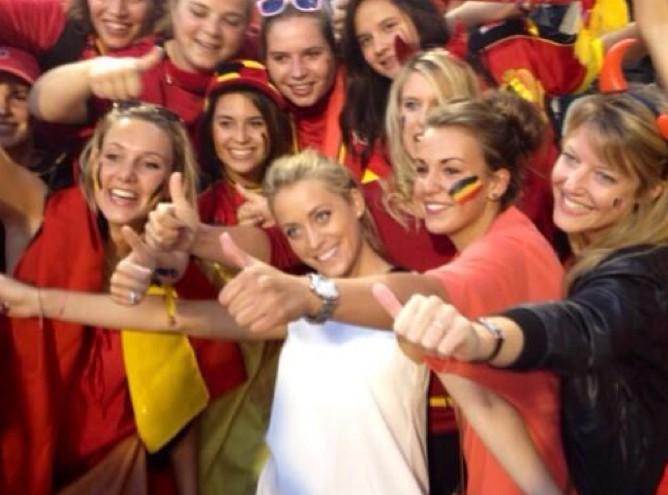 Emilie Dupuis était aux premières loges pour Belgique-France!