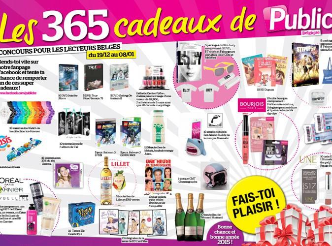 Public Belgique t'offre 365 cadeaux !