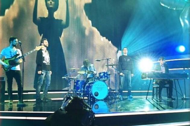 Puggy s'échauffe pour la finale de The Voice Belgique !
